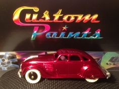 My 1950's Dinky Chrysler Airflow custom painted 2014.