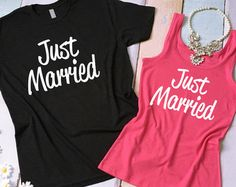 Bride and Groom T Shirt Set. Honeymoon Set of by BrideAndEntourage