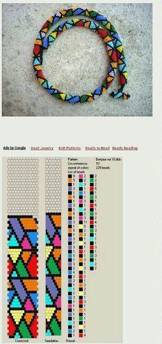 Knitulator sucht #Häkelideen: Häkelarmband. Armband bead crochet-just love it!                               Afrika deseni