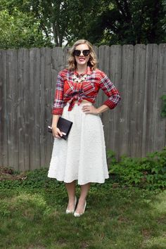 Dressed up in plaid. #plaid #holiday #glam #separates
