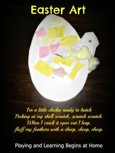 Learn about new life with this cute egg and chick craft!