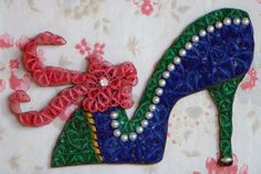 quilled heels with bling