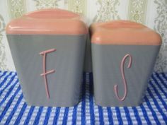 Retro Vintage Gay Ware Canisters ,Flour/Sugar Collectable
