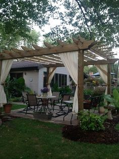 outdoor living room with pergola - http://www.homedecoz.com/home-decor/outdoor-living-room-with-pergola/