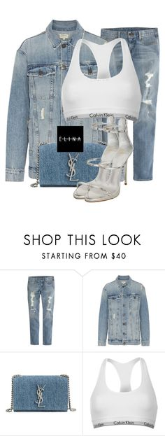 """""""Untitled #1491"""" by elinaxblack ❤ liked on Polyvore featuring J.Crew, Current/Elliott, Yves Saint Laurent, Calvin Klein and Giuseppe Zanotti"""
