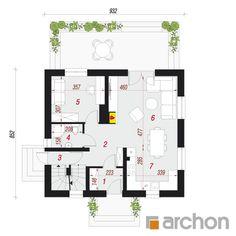 Dom w poziomkach 7 (P) Floor Plans, Floor Plan Drawing