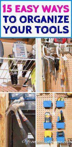 Workbench Organization, Workbench Plans Diy, Pegboard Storage, Workbench Designs, Storage Hacks, Garage Storage, Diy Organization, Storage Ideas, Workbench Top