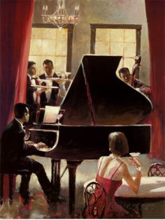 Piano Jazz Prints by Brent Heighton