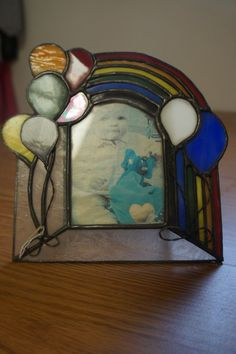 Stained Glass Picture Frame by StainedGlassbyBetty on Etsy