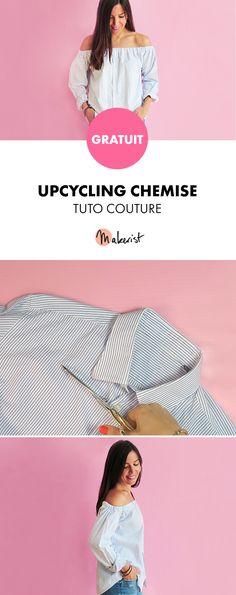 Tuto Couture Gratuit - Chemise à épaules dénudées ! Pas à pas avec images