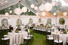 Kati and Simon's Backyard Wedding in Dover, Ma----Love this tent with the clear top!
