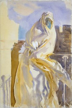 Arab Woman  John Singer Sargent  (American, Florence 1856–1925 London)  Date: 1905–6 Medium: Watercolor and gouache on off-white wove paper Dimensions: 18 x 12 in. (45.7 x 30.5 cm)