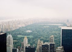 Central Park Aerial | Top of the Rock Wedding Photography | New York City | Photo by Jen Huang (jenhuangblog.com)