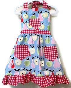 https://www.etsy.com/treasury/MjE2ODk4OTN8MjcyMjI0NjAxMw/aha-pastels?index=6=treasury_search_uid= Girls Apples and Pears Apron with Ruffled Hem by KelleenKreations, $23.00