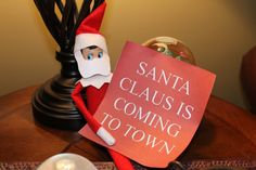Elf posing as Santa, leaves important message!