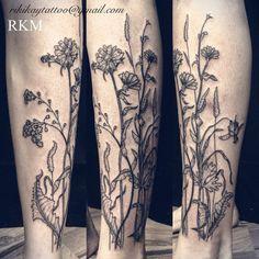 Fun wild grass shin rocker riki-kay middleton tattoos i want тату. Lower Leg Tattoos, Back Tattoos, Body Art Tattoos, New Tattoos, Cool Tattoos, Future Tattoos, Flower Tattoo Drawings, Flower Tattoo Back, Flower Tattoos