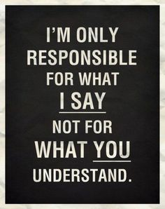 i`m only responsible:
