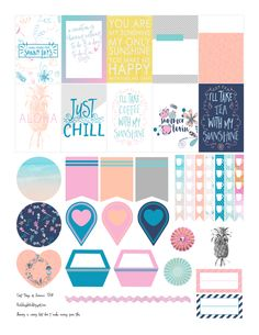 Free Printable The Last Days of Summer Planner Stickers from RedSheep Prints