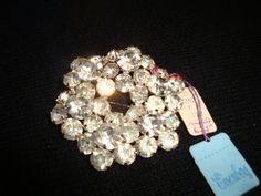Vintage Eisenberg Ice Circle Brooch Pin Original Eisenberg Tag