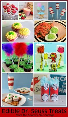 Edible Dr. Seuss Crafts.