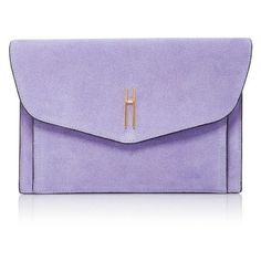 Hayward Bobby Clutch ❤ liked on Polyvore featuring bags, handbags, clutches, purple suede handbag, purple handbags, suede handbags, suede clutches and suede purse
