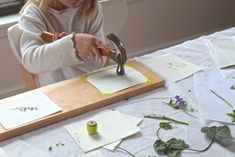 Kids love nature. Kids love tools. Combine two of their favorites and create art at the same time by making leaf prints, a quick and easy homage to spring.