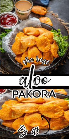 Indian Snacks, Indian Food Recipes, Asian Recipes, Pakora Recipes, Green Chutney, Masala Chai, Sliced Potatoes, Middle Eastern Recipes, American Food