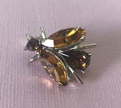 Your place to buy and sell all things handmade I Love Bees, Bee Jewelry, Bee Brooch, Vintage Rhinestone, Things To Come, Buy And Sell, Dragonflies, Brooches, Butterflies