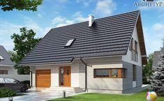 Projekt domu jednorodzinnego Karmel 3 (DL26) | wybieramprojekt.pl Chalet Style, Rio 2, Traditional House, Exterior Design, Garage Doors, Outdoor Decor, Inspiration, Home Decor, Wedding