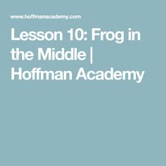 """With the help of his friend the frog, Pianist Joseph Hoffman teaches a new song, """"Frog in the Middle,"""" and introduces do-mi-so. Joseph Hoffman, Piano Lessons For Beginners, The Middle, News Songs, The Help, Teaching, Education, Onderwijs, Learning"""