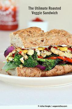 The Ultimate Veggie Sandwich. Vegan.