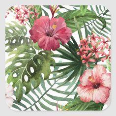 Hawaiian Flowers, Tropical Flowers, Exotic Flowers, Cactus Flower, Tapestry Nature, Diy Wall Art, Watercolor Flowers, Watercolor Pattern, Diy Painting