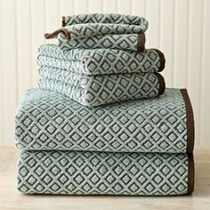 High Quality Better Homes And Gardens Kendo Extra Absorbent 6 Piece Towel Set   In Green  Brown Awesome Design