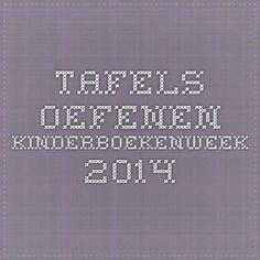 Tafels oefenen - kinderboekenweek 2014