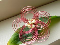 Mizuhiki Plum/ Ume Blossom Wrapped Ring with by sakurapink on Etsy, $10.00