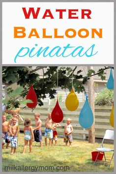 Our inexpensive outdoor water party has been featured many times not for its extravagant lunch menu but for its awesome fun activities. A food allergy parent's dream come true! Water Birthday Parties, Summer Birthday, Birthday Party Games, Boy Birthday, Outdoor Birthday Parties, Inexpensive Birthday Party Ideas, Party Summer, Summer Fun, Summer Time