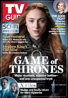 Game of Thrones - Season 7 - Sophie Turner as Sansa Stark Queen Cersei, Fred Savage, Game Of Thrones Poster, Popular Magazine, New Netflix, Hbo Series, Sansa Stark, Creature Feature, Tv Guide