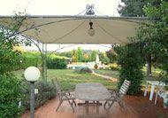 Overdækket terrasse og pool