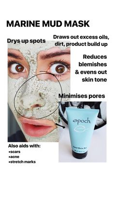 This is the mask everybody is talking about. It's transforming everybody's skin that uses this mask. Not only is it used for the face you can use it all over the body if you wanted. It says it all in the picture. Want to try? Email me on beautybdanielle.me Marine Mud Mask, Even Out Skin Tone, Minimize Pores, Acne Scars, Stretch Marks, Good Skin, Skin Care, Face, Summer