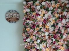 Tutorial on DIY Flower Wall. You can find out detailed instructions from my website at . This is a tutorial on how to make 1 panel of a flower wall using artificial flowers. When you make multiple panels, you can create a big floral wal Flower Wall Backdrop, Wall Backdrops, Diy Backdrop, Floral Backdrop, Backdrop Decorations, 3d Flower Wall Decor, Wedding Decoration, Flower Wall Wedding, Wedding Arch Flowers