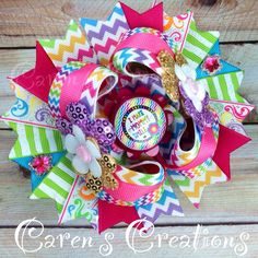 I Make Mommy Smile stacked boutique bow, hair bow, bow, over the top, mommy, flowers