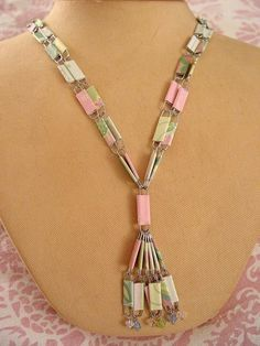 paper clip necklace | DIY PAPER CLIP BEAD NECKLACE KIT by Pukashell on Etsy
