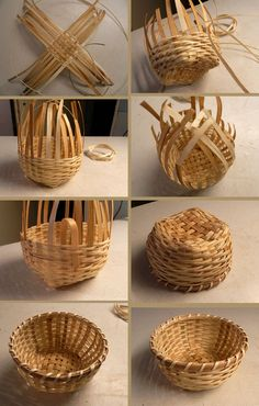 icu ~ See how to make a basket of jute with your own hands. ~ See how to make a basket of jute with your own hands. Bamboo Basket, Rope Basket, Diy Home Crafts, Diy Arts And Crafts, Bamboo Crafts, Wood Crafts, Diy Wood, Diy Para A Casa, Basket Weaving Patterns