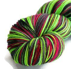 "BFL Sock Yarn Hand Dyed Wool Superwash ""Northern Lights"" - UK Seller. £12.00, via Etsy."