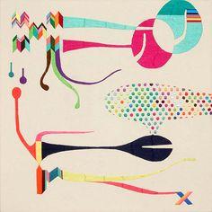 takashi iwasaki  embroidery floss and fabric (hand embroidered)  41cm x 41cm  2008