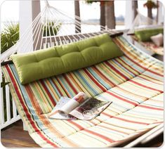 Pottery Barn's expertly crafted collections offer a widerange of stylish indoor and outdoor furniture, accessories, decor and more, for every room in your home. Double Hammock, Hammock Swing, Hammock Chair, Hammock Ideas, Baby Hammock, Backyard Hammock, Cement Planters, Outdoor Spaces, Outdoor Living