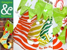 Re-imagine & Renovate Holiday Style: Elf Stockings