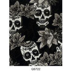 Hydrographics film skull pattern QS722