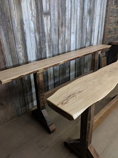 Rustic Table Foyer Table or Kitchen Island, Made From Reclaimed Barnwood with Various Slab Wood Tops, Ready to Ship Barn Wood Projects, Reclaimed Wood Projects, Reclaimed Wood Furniture, Old Barn Wood, Reclaimed Barn Wood, Wood Wood, Custom Made Furniture, Furniture Design, Vintage Industrial Furniture