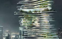 A torre URBAN FOREST, que abrigará escritórios e apartamentos residenciais, terá 70 andares, com formatos e tamanhos diferentes. Tudo sustentado por um cilindro, no meio da construção, que também servirá de suporte para os elevadores. De acordo com a empresa, a intenção é integrar ao máximo a natureza e a vida urbana. Ainda não há previsão para o início das obras.